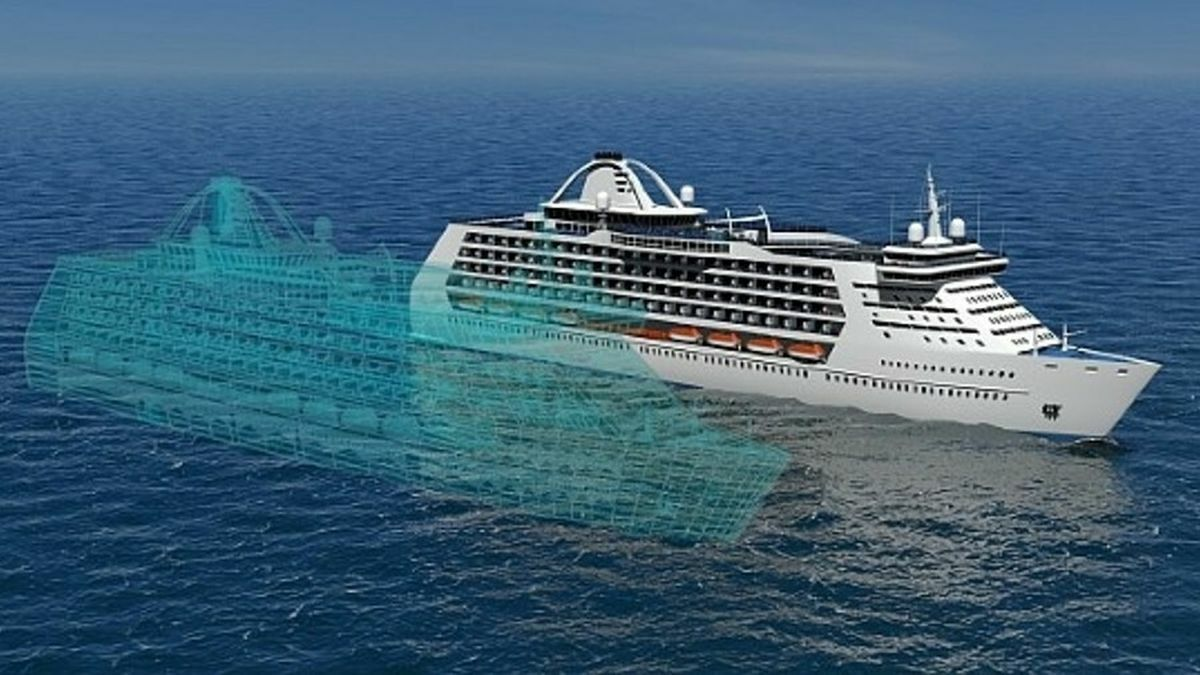 Digital twin of a cruise ship enables operators to model vessel performance