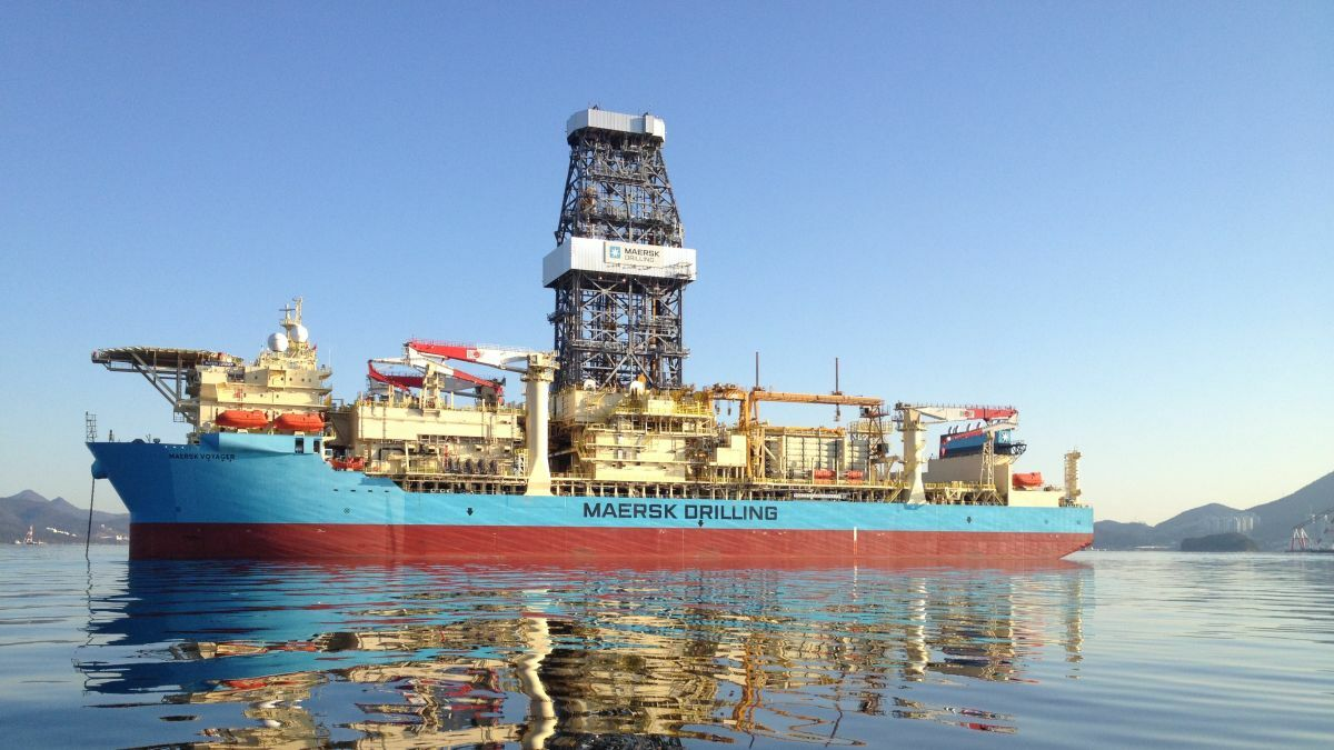 Maersk Drilling's drillship Maersk Voyager is under charter to Total in Angola (image: Maersk Drilling)