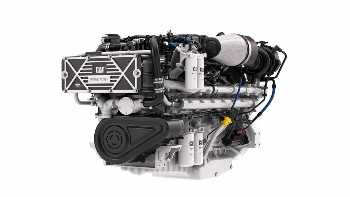 The C32B engine is EPA Tier 3 Recreational and IMO II certified and has applications with yachts (Image: Cat Marine)