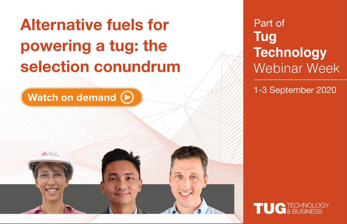 Alternative fuels for powering a tug - the selection conundrum webinar panel