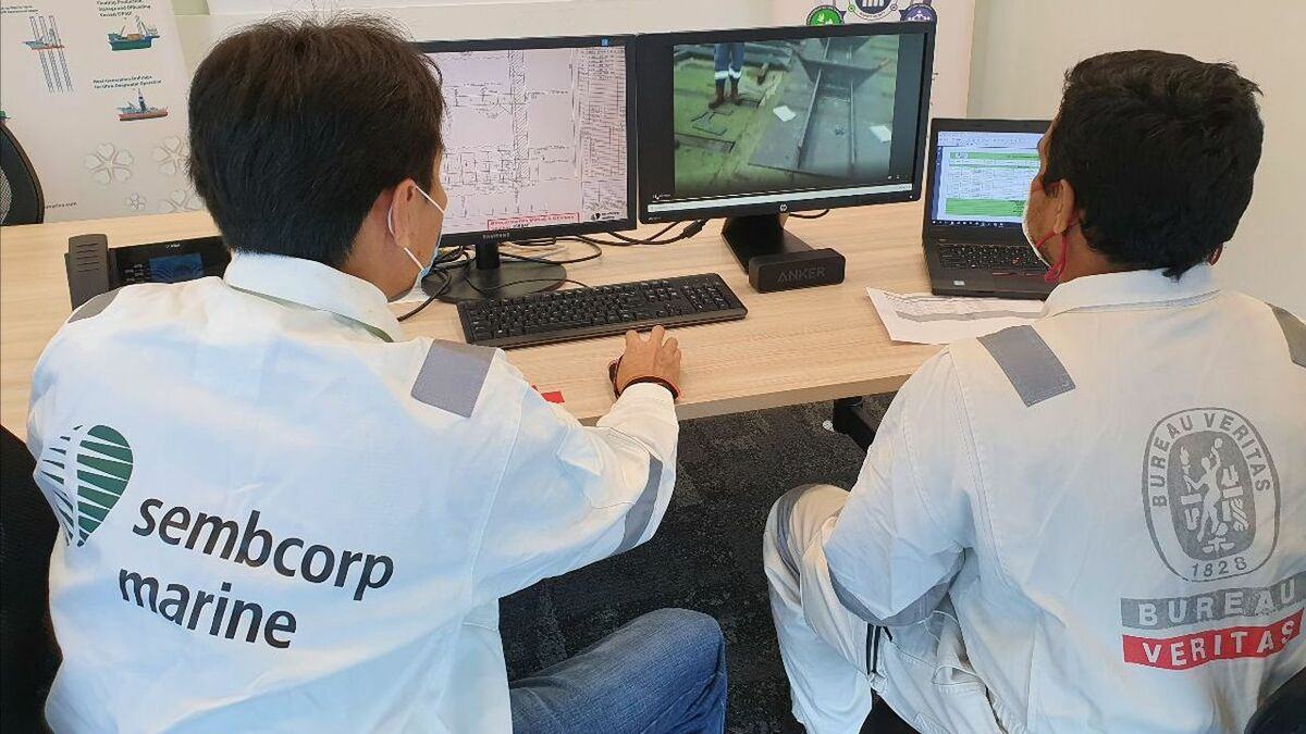 Bureau Veritas and Sembcorp Marine's remote survey centre (source: BV)