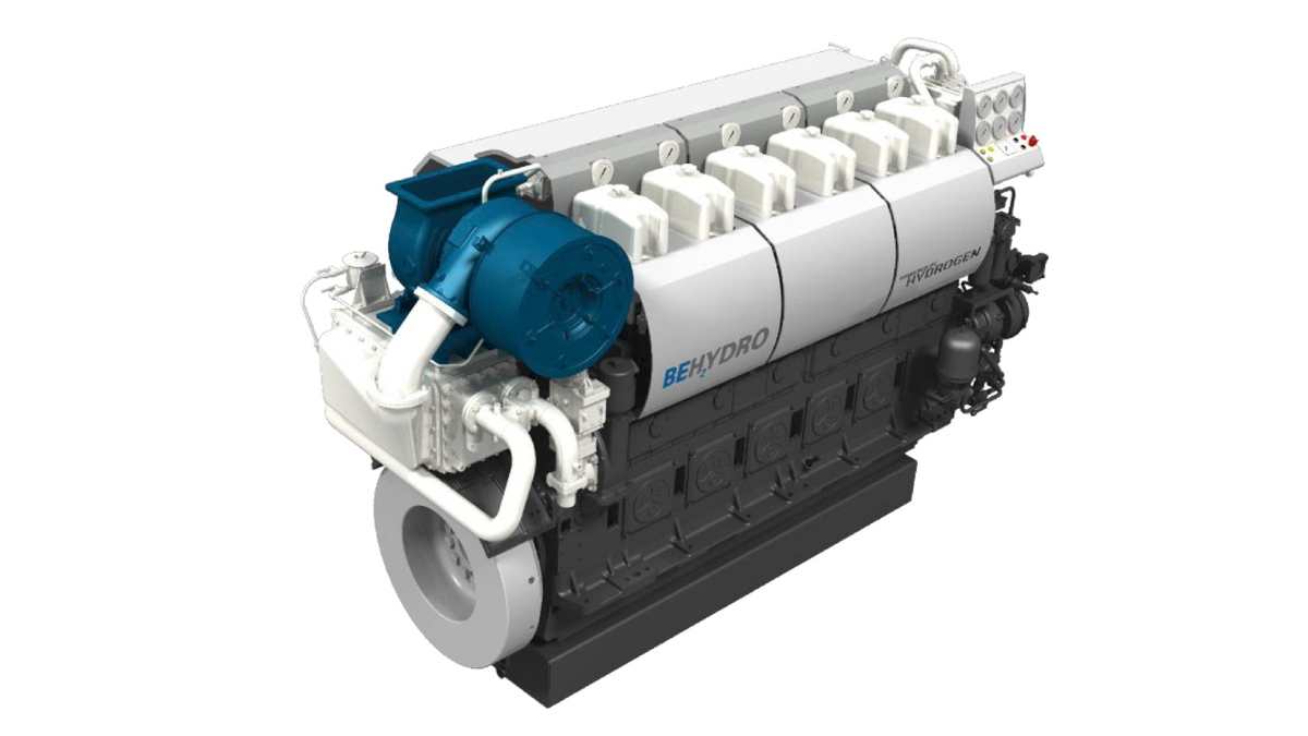 New dual-fuel hydrogen engine will advance shipping's decarbonisation