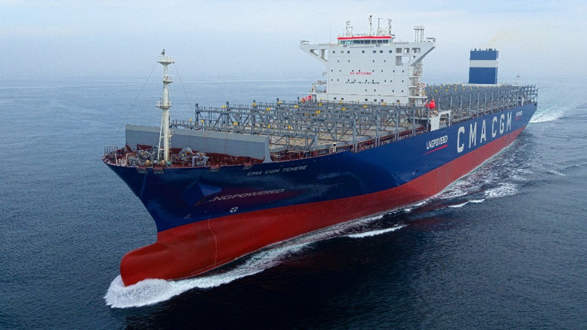 World's first LNG-fuelled ULCS joins CMA CGM fleet