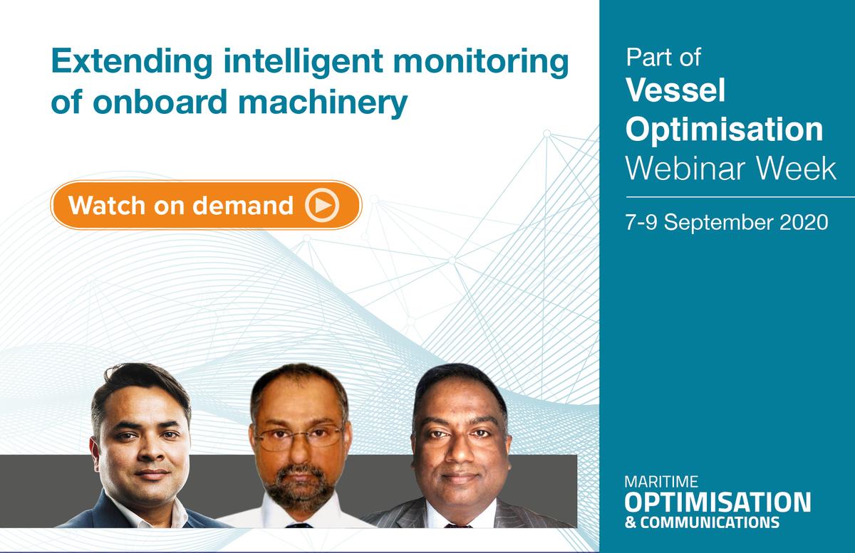 Extending intelligent monitoring of onboard machinery webinar