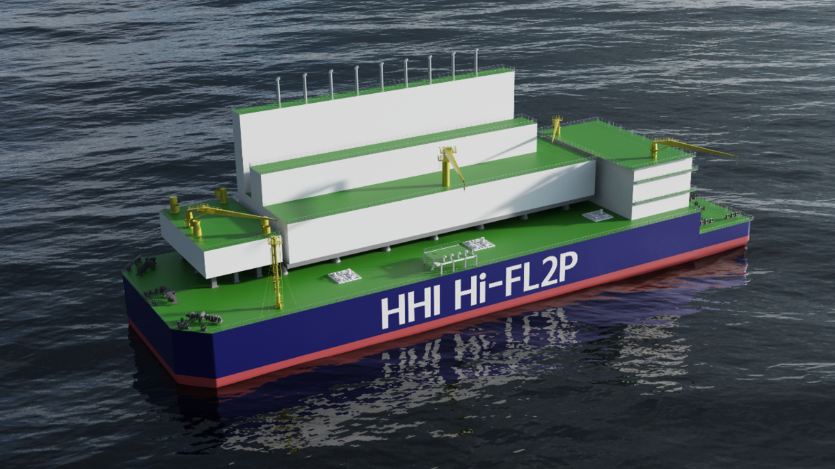 The HHI barge-based LNG power plant could potentially lower capex costs for power-to-gas applications (Source: HHI)
