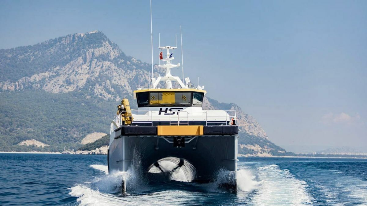 HST Euan is supporting the Belgian Northwester 2 offshore wind project (Source: High Speed Transfers)