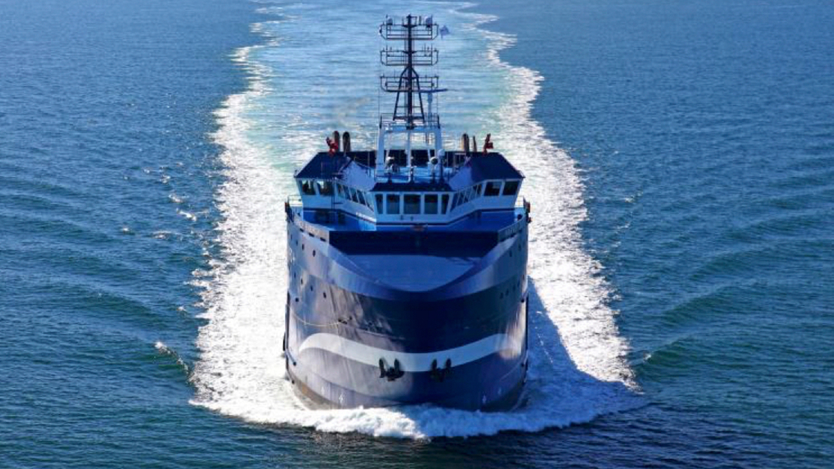 The first dual-fuel PSV in the US, Harvey Energy is now its first 'tri-fuel' vessel (Source: Harvey Gulf)
