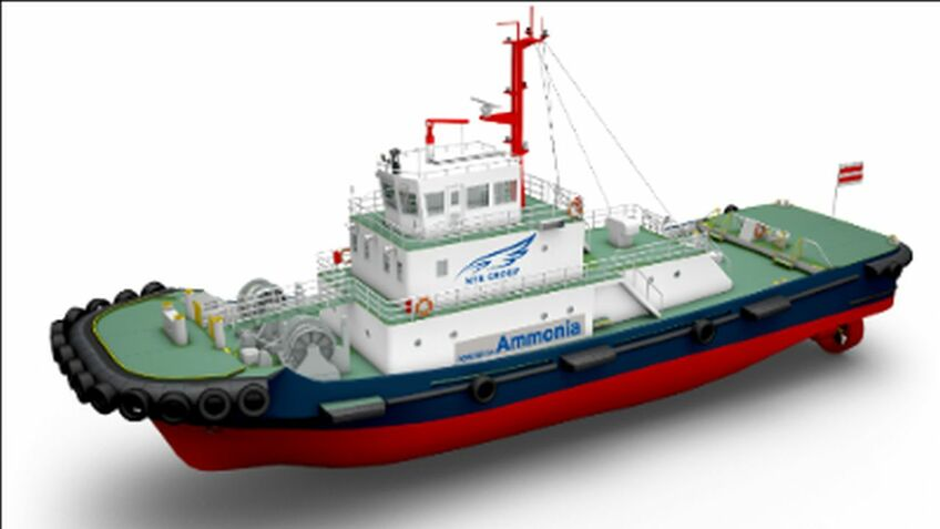 Consortium starts developing ammonia-fuelled tugboat