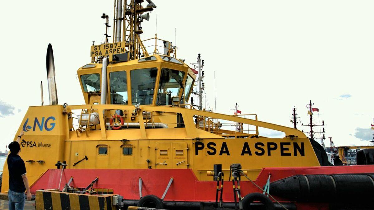 PSA Aspen is PSA Marine's first LNG dual-fuel harbour tug