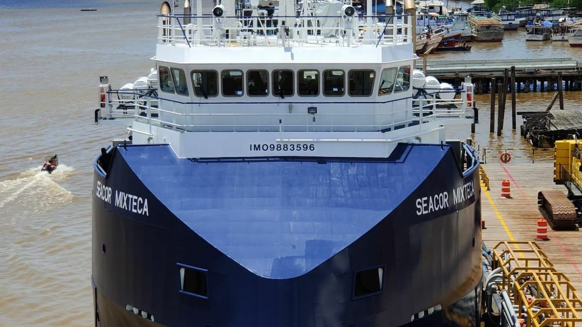 With FI FI class 1 notation, SEACOR Mixteca has significant fire-fighting capabilities (Source: SEACOR Marine)