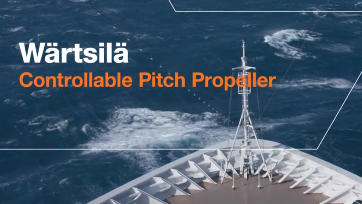 How Wärtsilä's Controllable Pitch Propeller Systems can help improve your vessel's performance