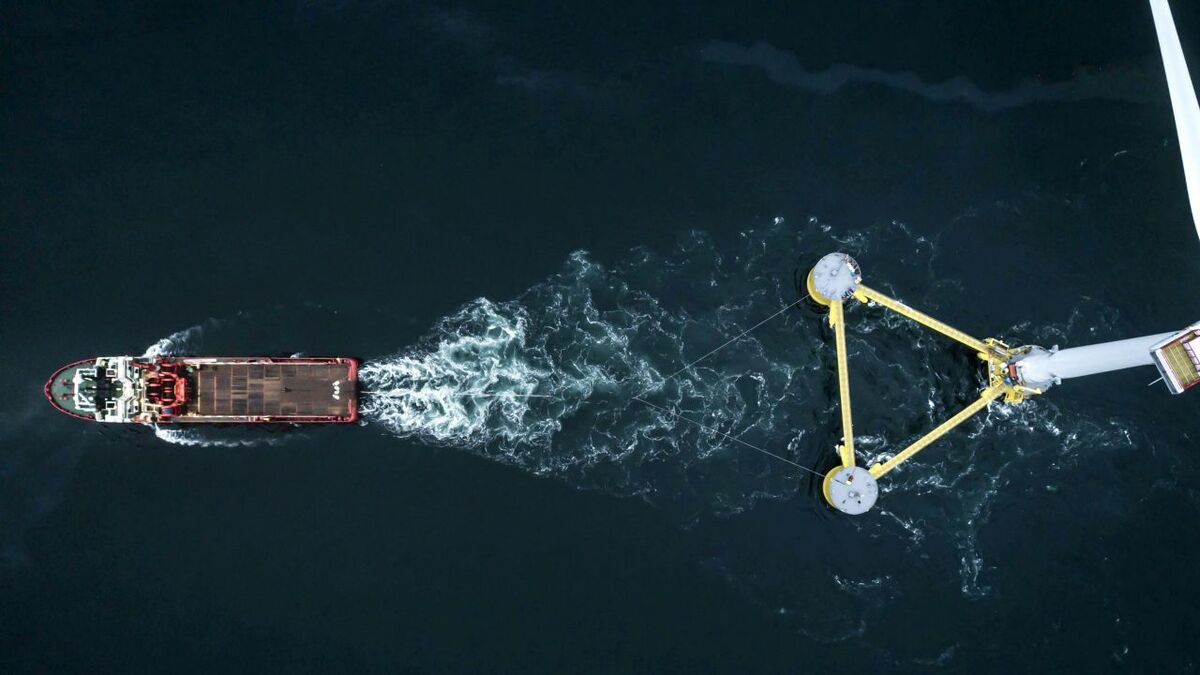 Anchor handlers are required to tow floating wind turbines into place, as her on the WindFloat Atlantic project