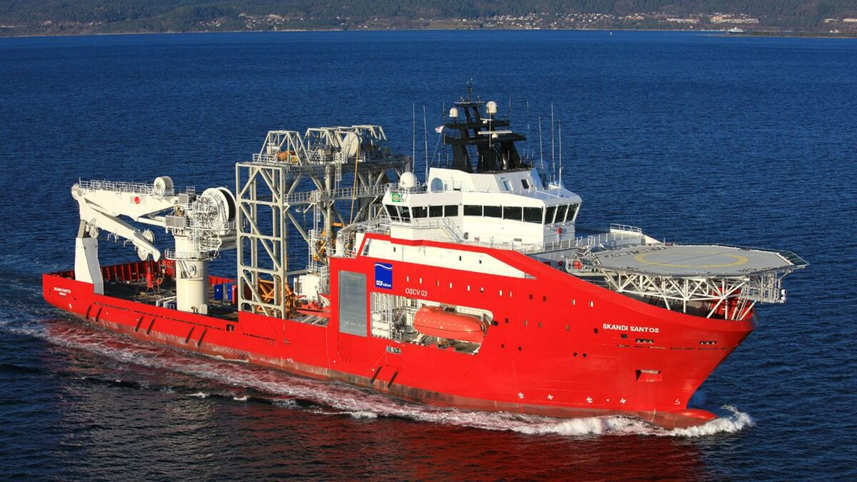 DOF Brazilian subsidiary Norskan has been awarded two contracts for vessels similar to Skandi Santos (pictured) (source: DOF)