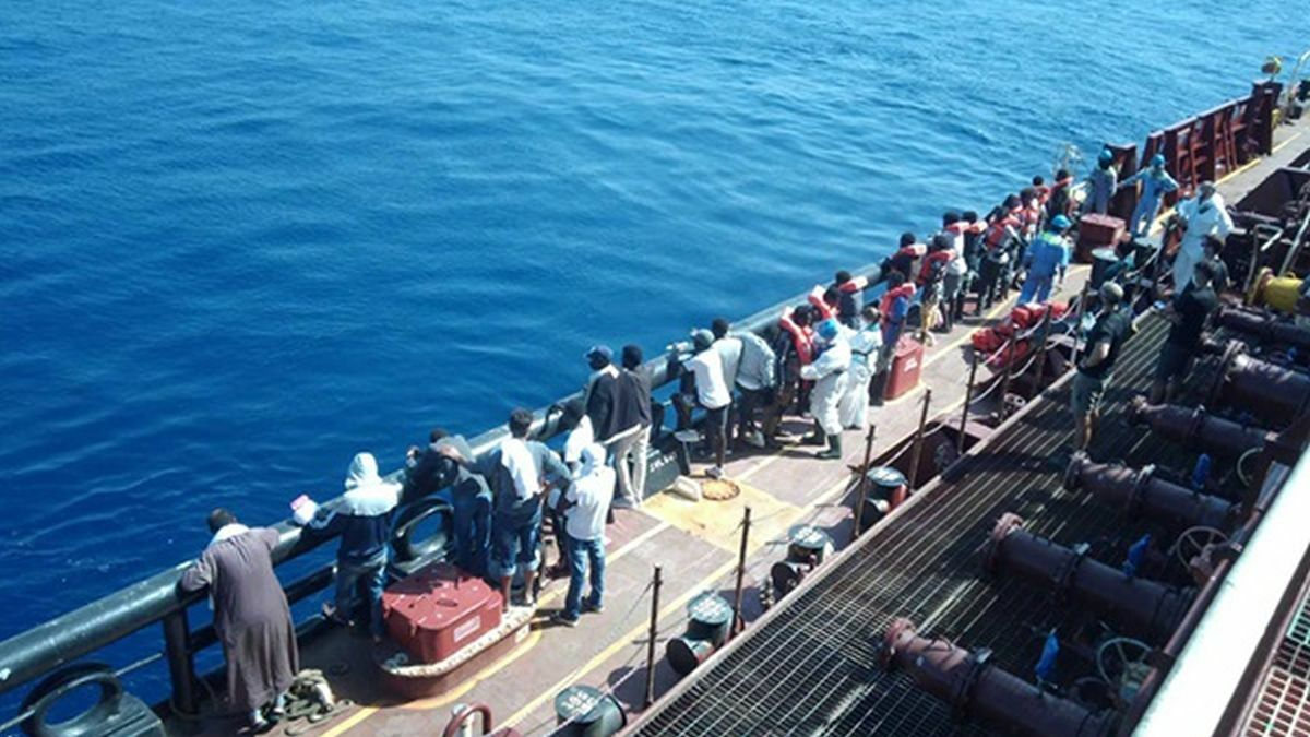 Rescued migrants disembarked from Maersk tanker