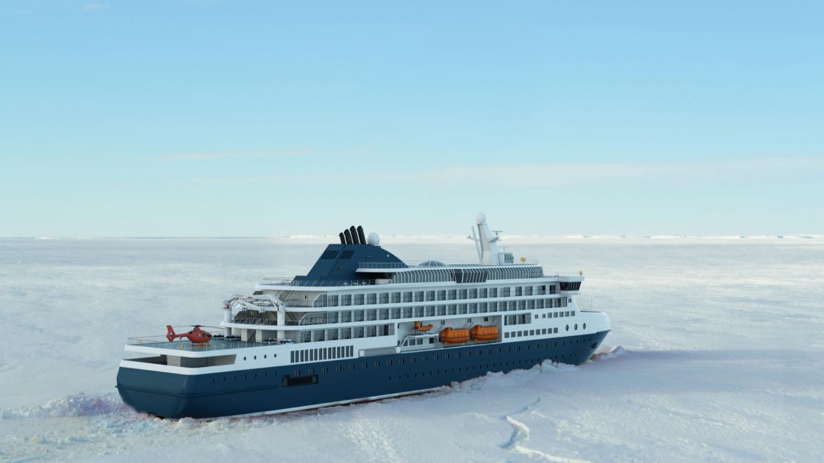 Knud E Hansen's new Icebreaking vessel design (Image: Knud E Hansen)
