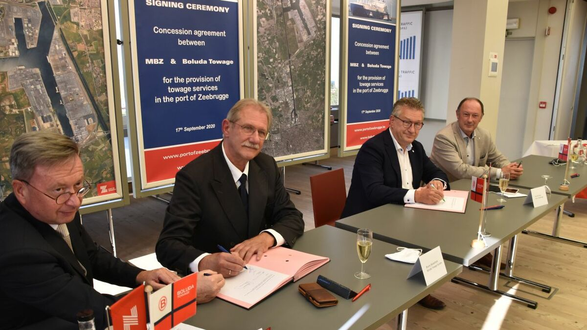 Boluda and Port of Zeebrugge sign towage concession agreement (source: Boluda)