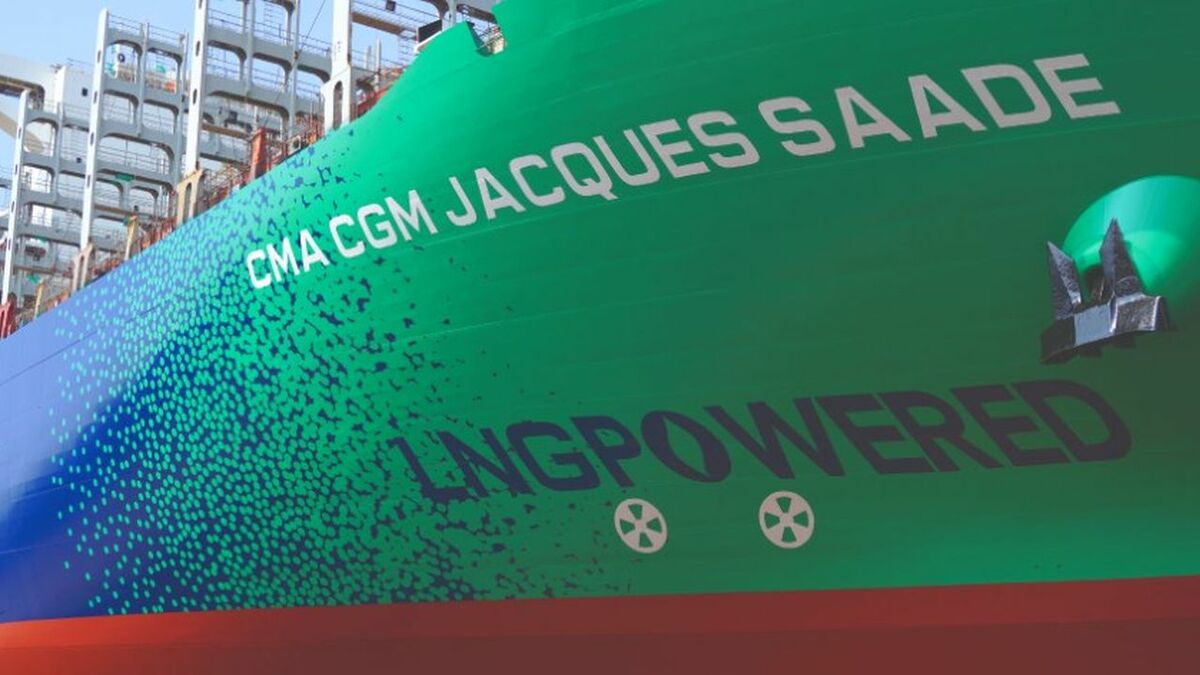CMA CGM was hit by a cyber attack a week after launching its new LNG container ship Jacques Saade (source: CMA CGM)