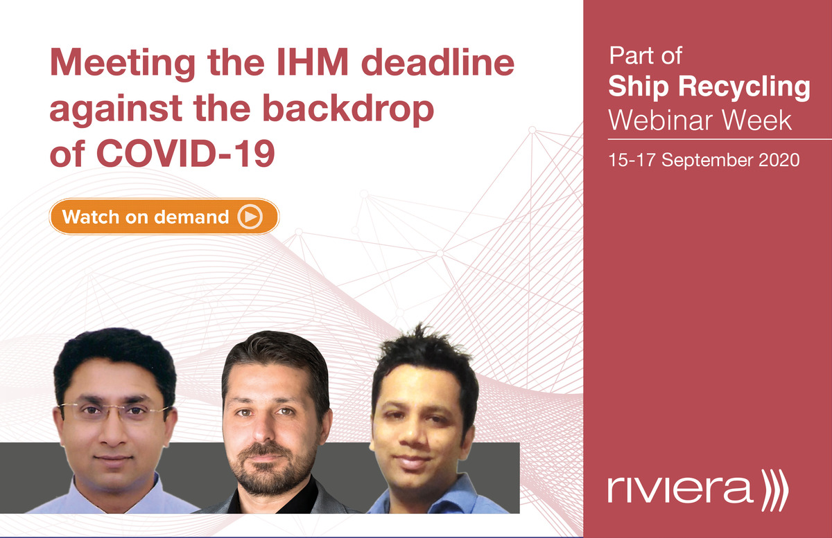 Meeting the IHM deadline webinar panel