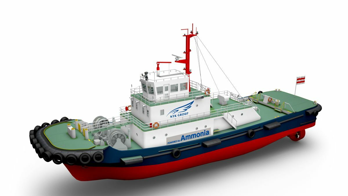 ClassNK, NYK Line and IHI Power Systems are developing an ammonia-powered tug in Japan (source: NYK)