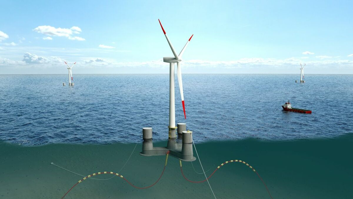 The FLAGSHIP project will use Olav Olsen's OO-Star Wind Floater, a semi-submersible concrete foundation