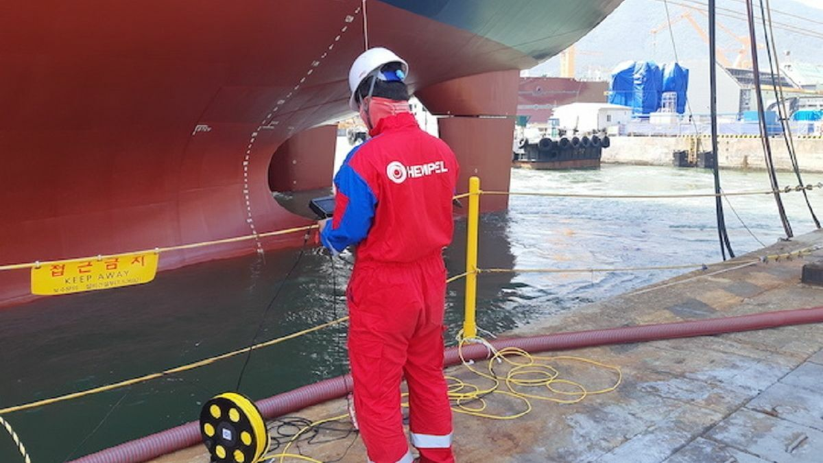 Hempel's Hull Inspection Service is available in selected ports in China and Korea (image: Hempel)