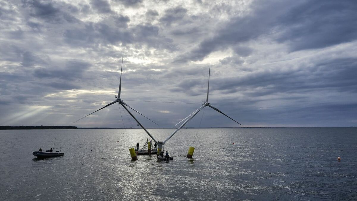Nezzy2 turbine takes to the water again in Baltic floating wind test