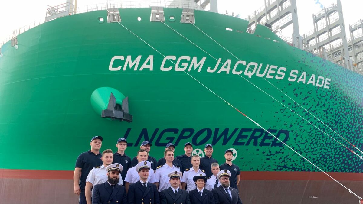 CMA CGM receives LNG-powered ULCS series flagship