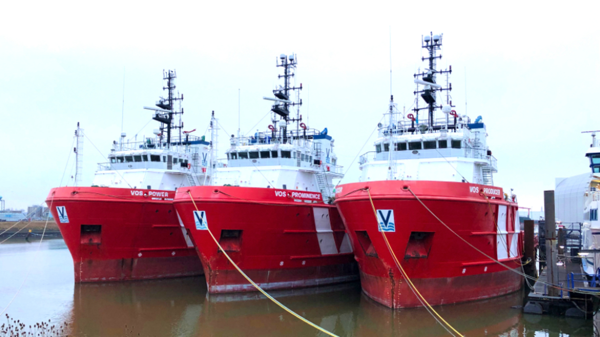 To right-size its fleet, Vroon is sending this Dutch trio of platform supply vessels to the scrapyard (Source: VOS)