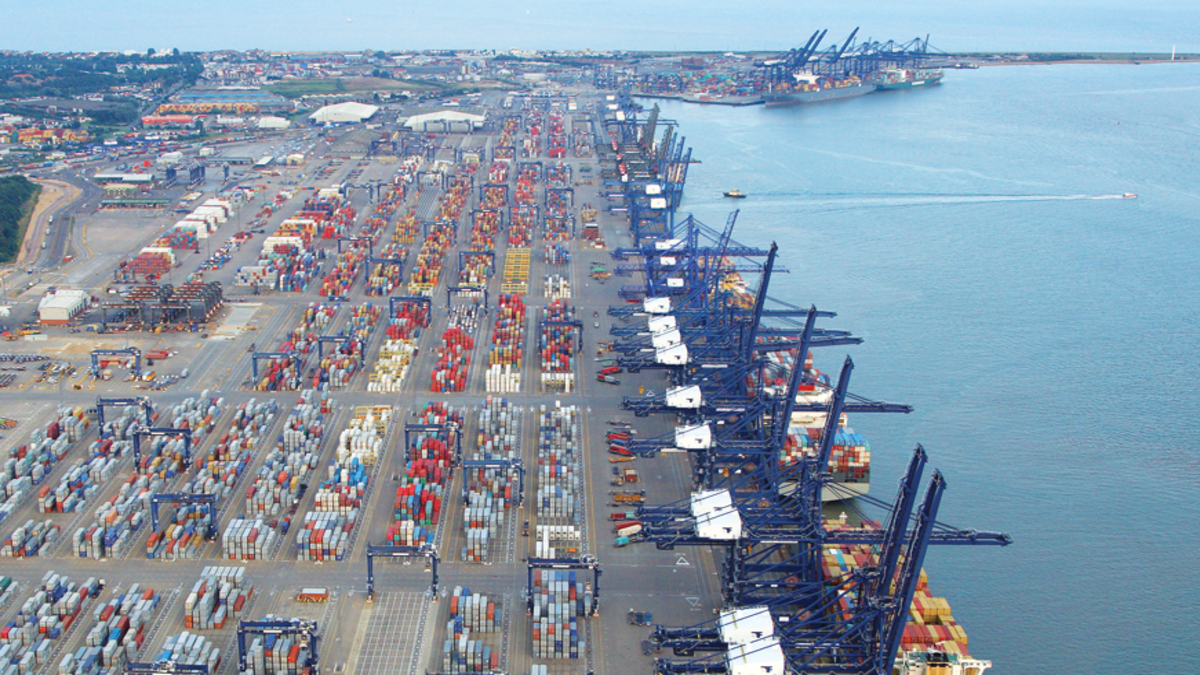 UK ports can now apply for state funding to improve port infrastructure (Image: Port of Felixstowe)