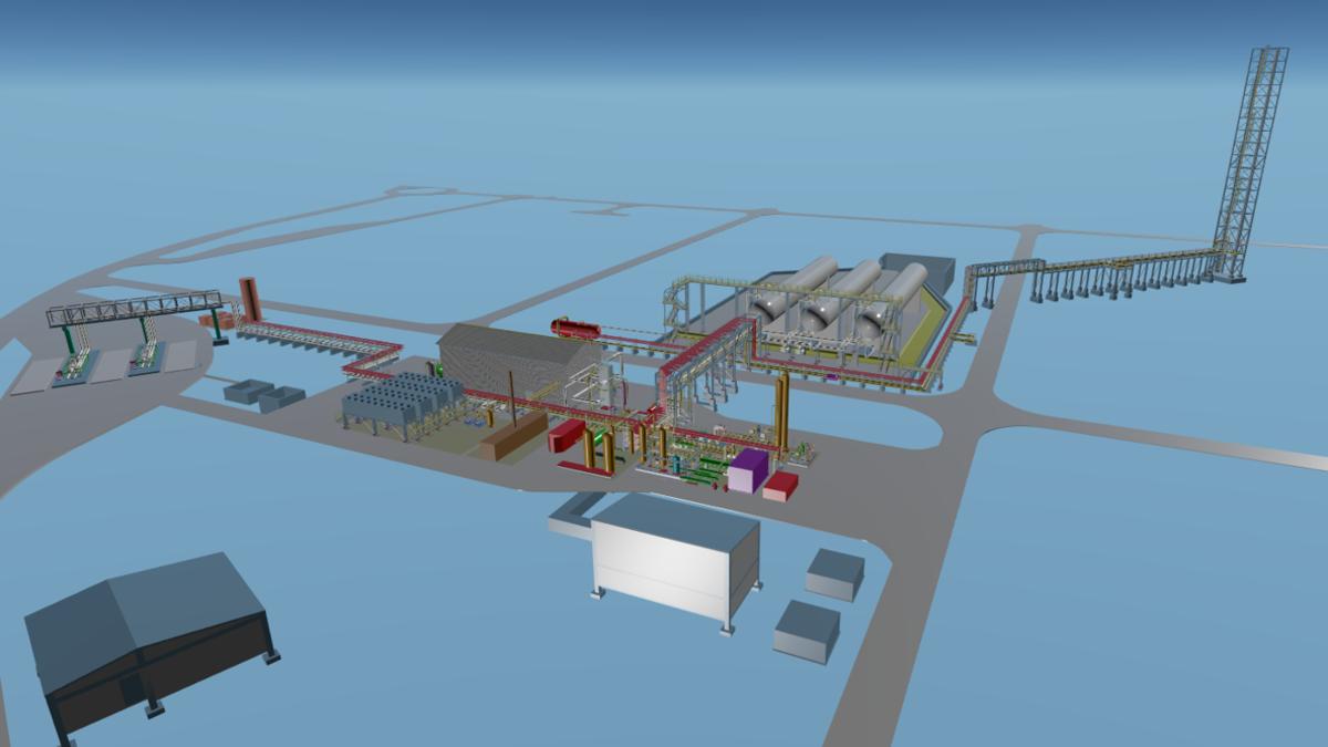 Impression of the LNG/bioLNG production plant (Image: Wärtsilä)