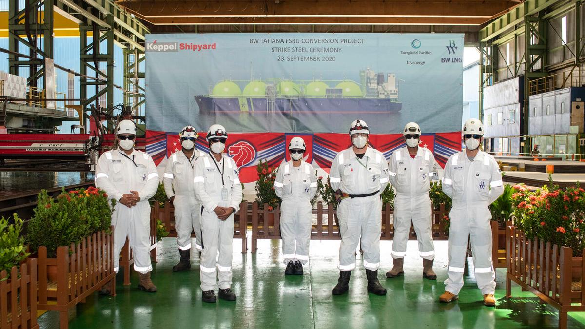 Keppel Shipyard has begun the conversion of BW Tatiana into an FSRU for El Salvador (source: BW LNG)