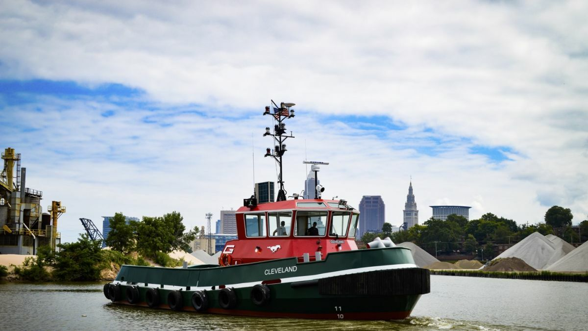 Cleveland was the first newbuild hybrid propulsion tug