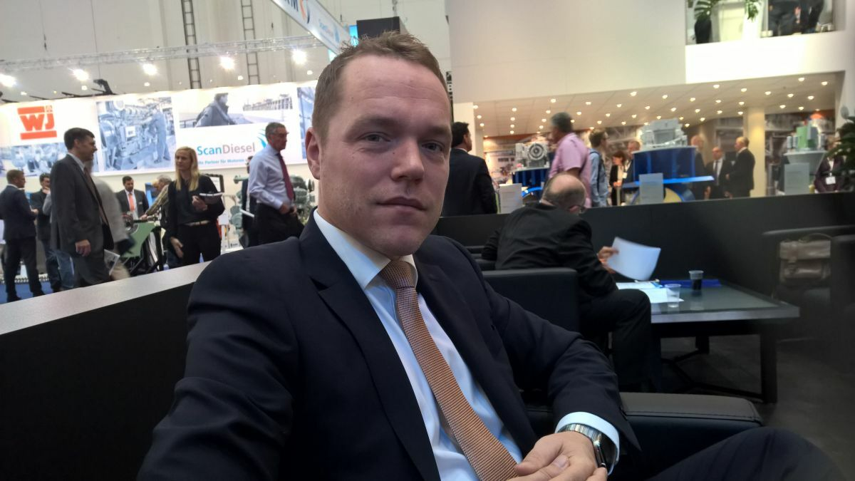 "Jonas Nyberg (Berg): ""Our approach is to work at the earlier phase of the vessel design"" (source: RMM)"
