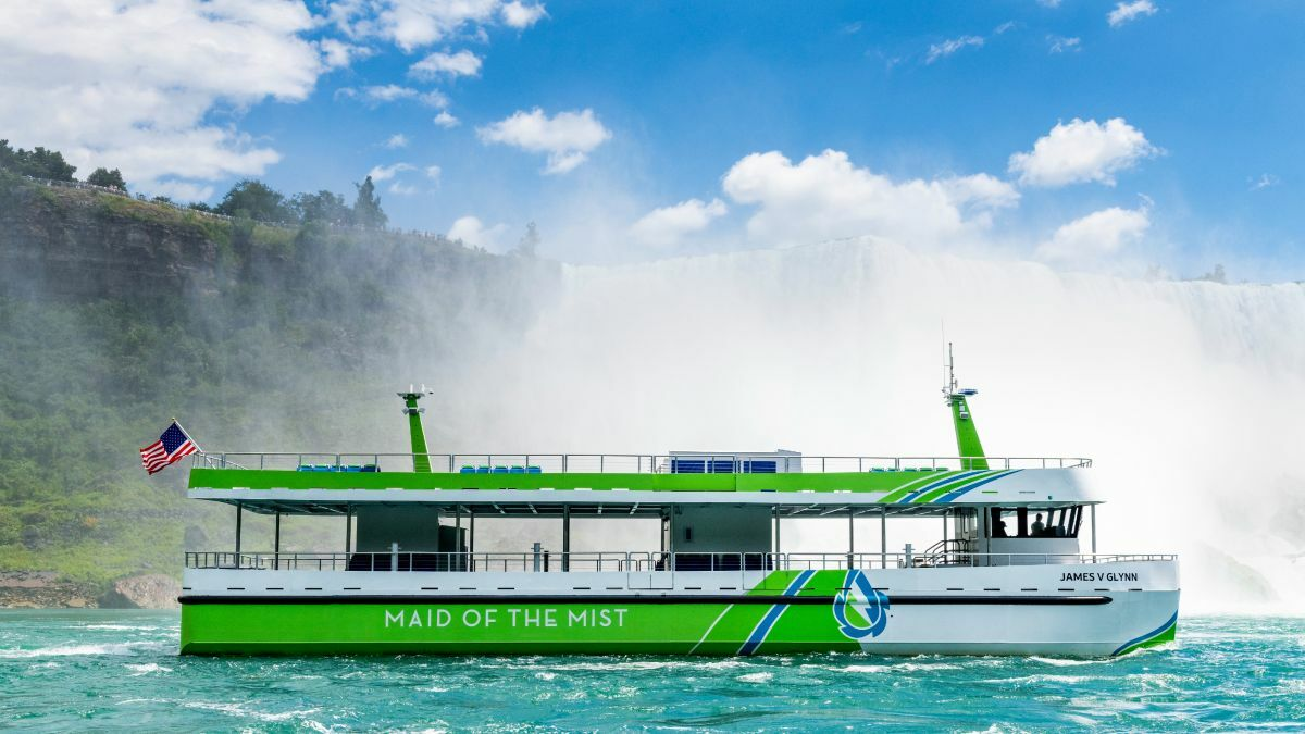 Maid of the Mist's all-electric tourboats will use renewable electricity generated by Niagara Falls (source: Maid of the Mist)