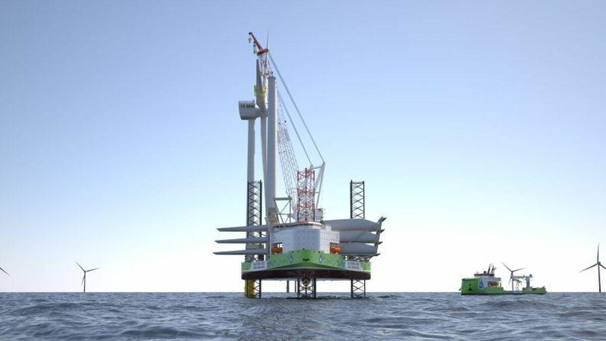 Ulstein unveils hydrogen-powered turbine installation vessel
