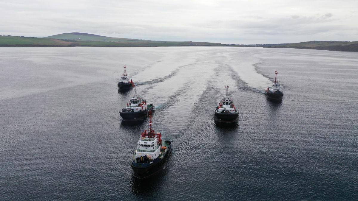 New tugs flanked by the older vessels operate from Scapa (credit: Colin Keldie - K4 Graphics)