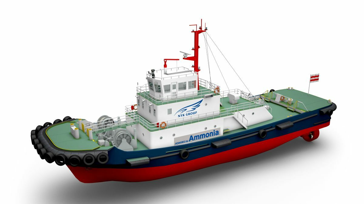 Future design of an ammonia-powered tugboat (source: NYK/ClassNK)