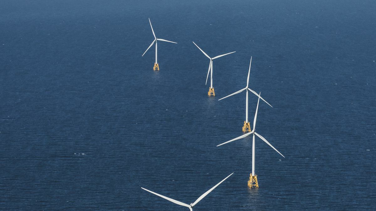 The only commercial US offshore windfarm in operation, Ørsted's Block Island Windfarm could have plenty of company – up to 25 GW by 2030 (source: Ørsted)