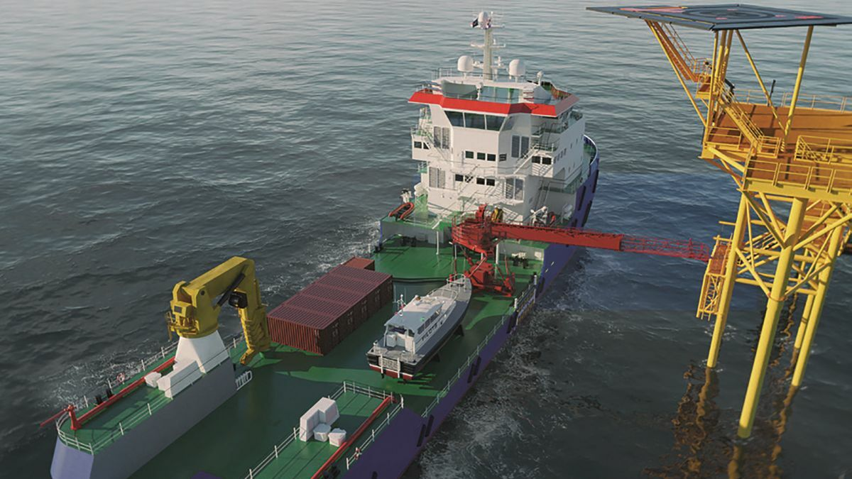 The Damen Multibuster can be used for ROV operations, cable laying, anchor handling, towing and W2W (source: Damen)