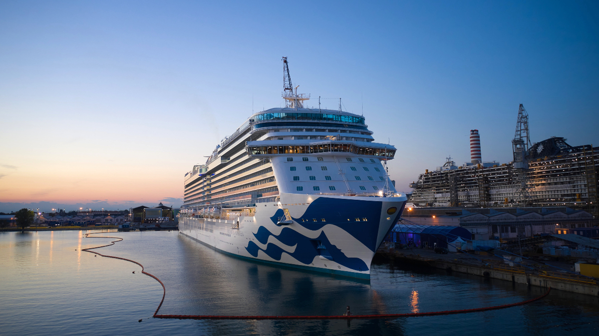 Enchanted Princess is the first cruise ship delivered by Fincantieri since the outbreak of Covid-19 (source: Fincantieri)