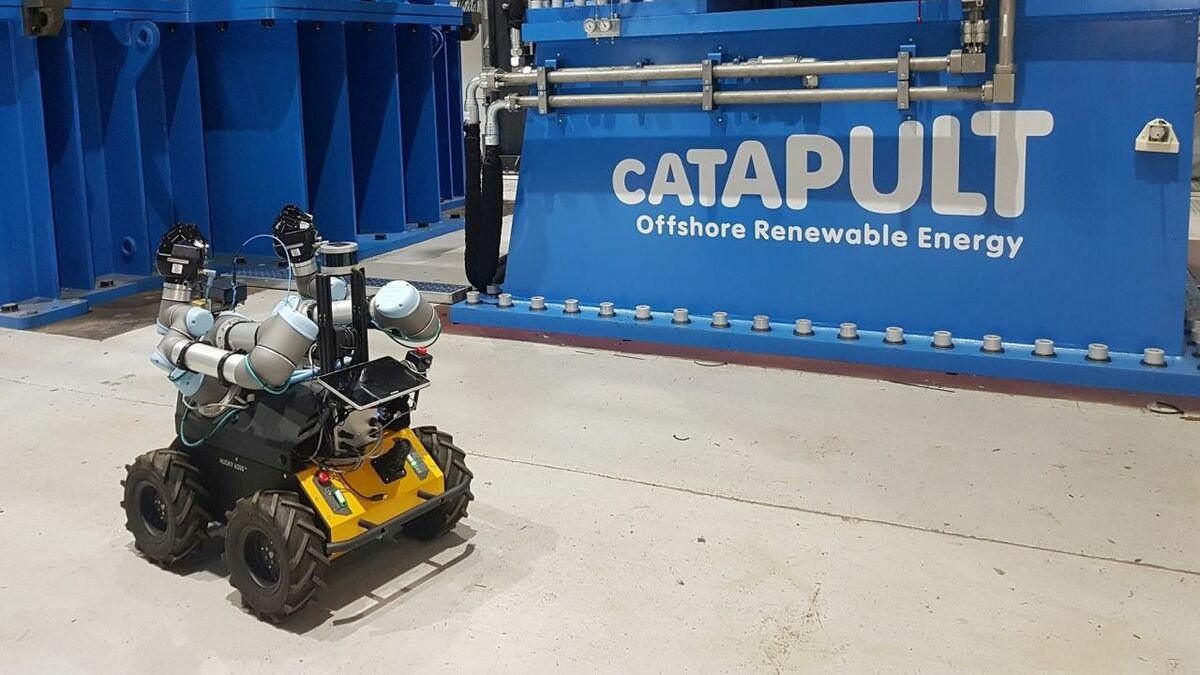 A 'Husky' robot undergoing trials at ORE Catapult's National Renewable Energy Centre in Blyth