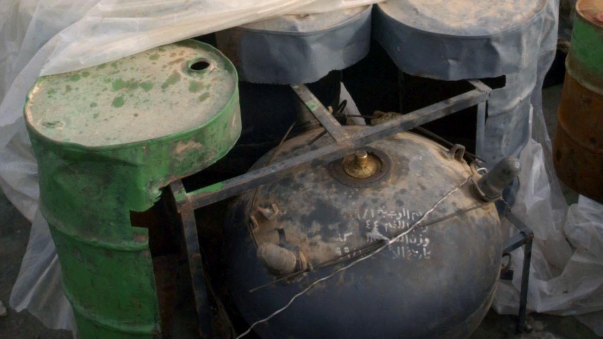 Example of an improvised explosive device sea mine found in Middle East conflicts (image: US Navy)