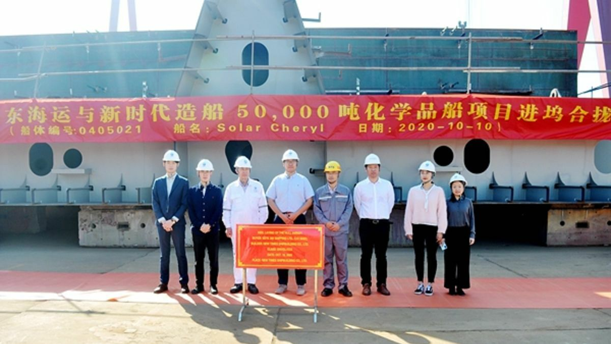 Keel laid for first of eight MR tankers for Shell charter