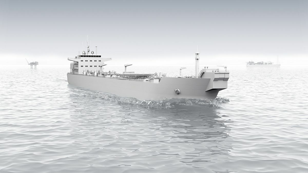 Illustration of Knutsen shuttle tanker - ABB to supply the energy storage solution (source: ABB)