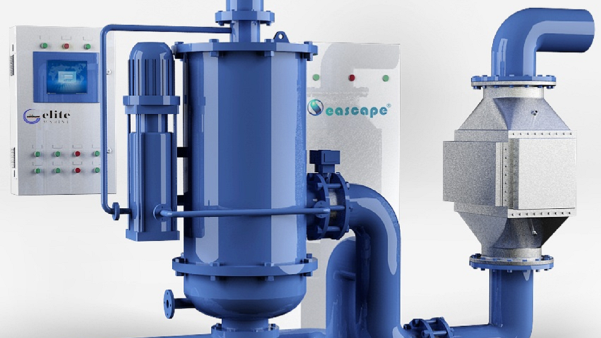Seascape BWMS consists of filtration and UV treatment at intake and at discharge (source: Seascape)