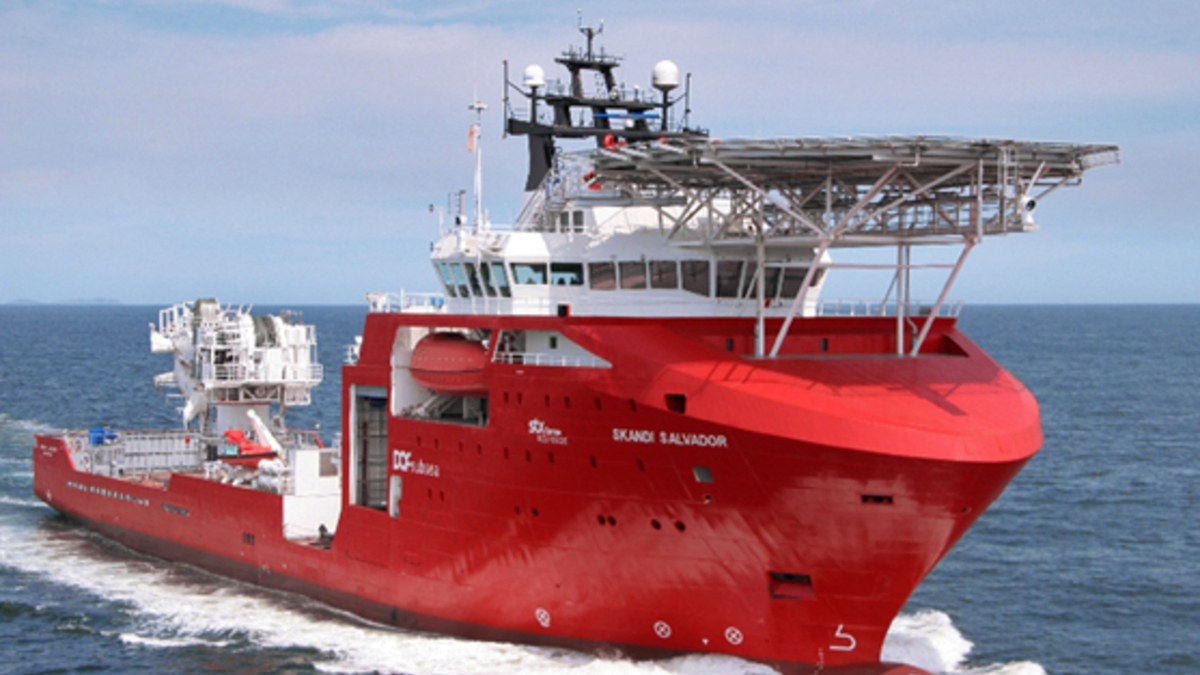 Under the contract, MPSV Skandi Salvador will operate two WROVs in waters of 2,500 m for IMR work (source: DOF Subsea)