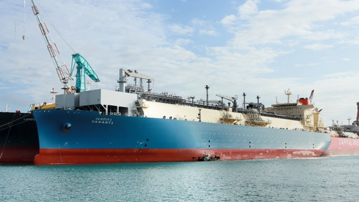 Swan Energy's Vasant 1 will be the centrepiece of a new LNG import terminal on India's west coast, starting 2022 (source: HHI)