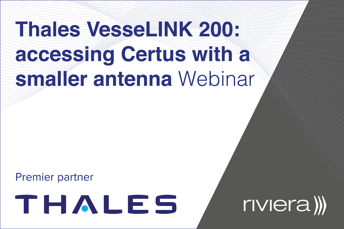 Thales VesseLINK 200: accessing Certus with a smaller antenna