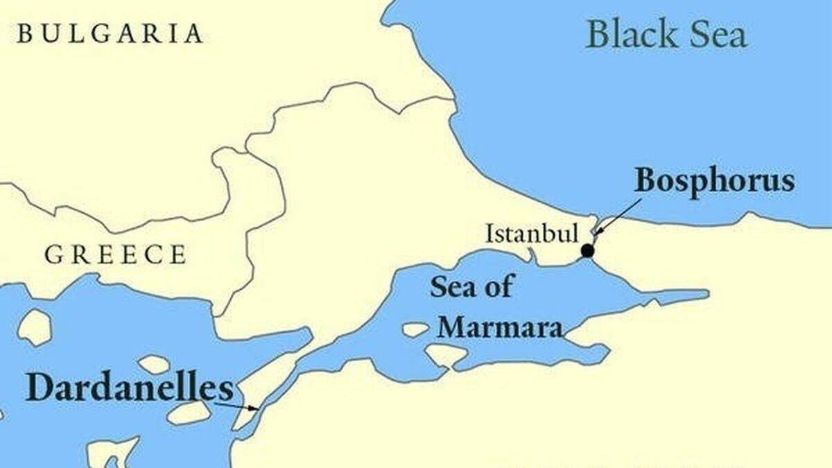 Turkish Straits are a major shipping route between the Mediterranean and Black Sea (source: Skuld)