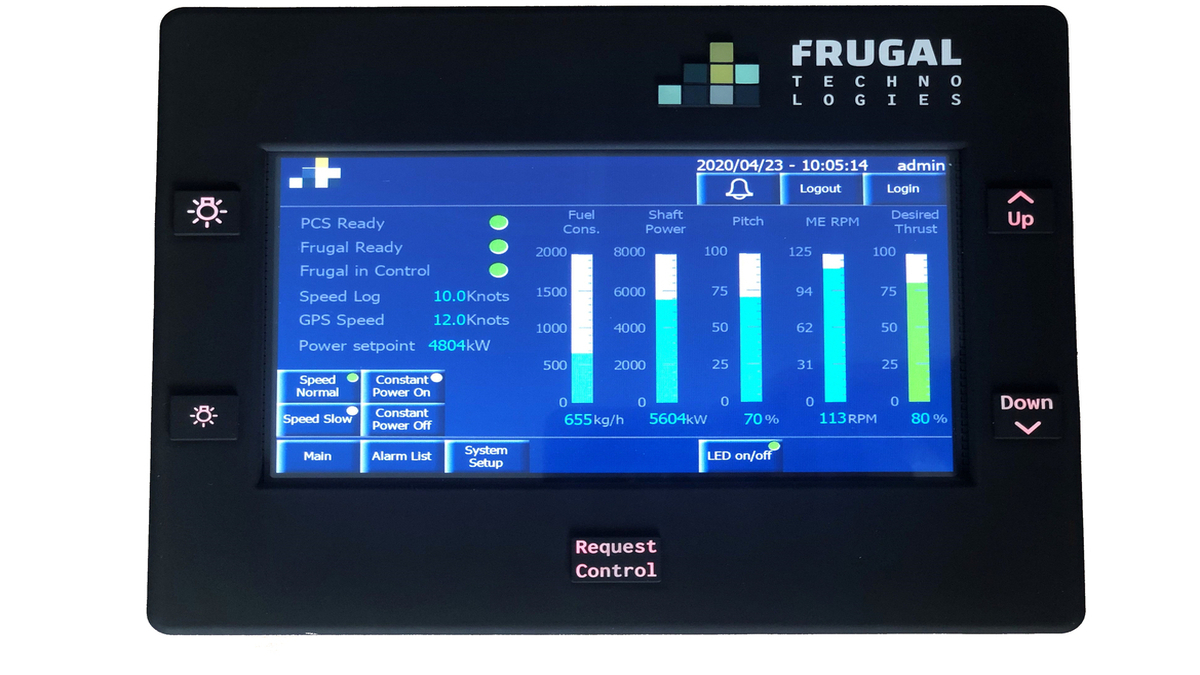Frugal Propulsion interface (Image: Frugal Technologies ApS/Royal Arctic Line)